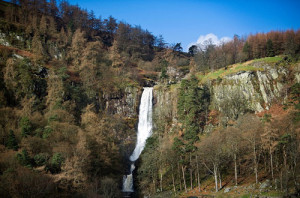 Pistyll Rhaeadr Waterfalls North East Scenery